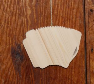 Accordéon en bois ht15cm decoration musical mariage