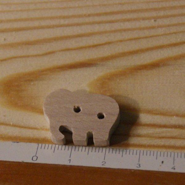 Bouton en bois massif elephant 22mm, a coudre, fait main embellissement scrapbooking