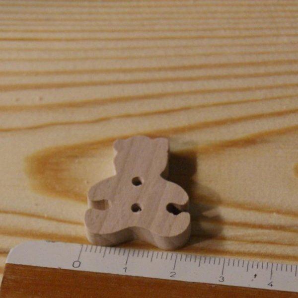 Bouton ourson 22mm embellissement scrapbooking theme enfant bebe naissance bois massif fait main