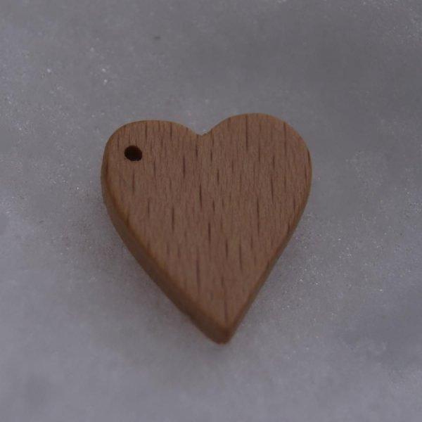 Breloque coeur bois fait main
