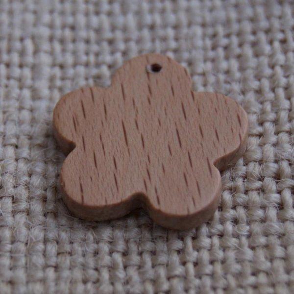 Breloque fleur bois fait main