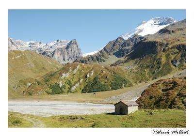 Carte postale Le lac de la Gliere, Champagny en vanoise