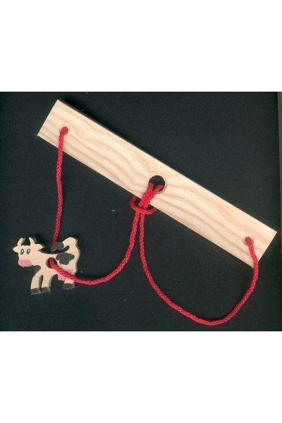 Casse-tete La vache, casse tete bois et ficelle fabrication artisanale