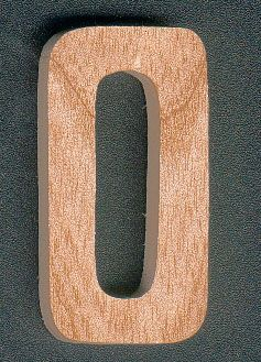 chiffre en bois chiffre 0 en bois 5 cm decoup manuellement. Black Bedroom Furniture Sets. Home Design Ideas