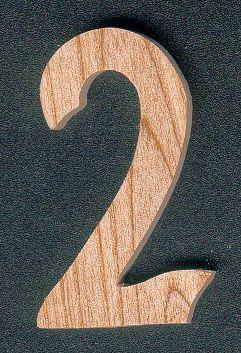 chiffre en bois chiffre 2 en bois 5 cm. Black Bedroom Furniture Sets. Home Design Ideas