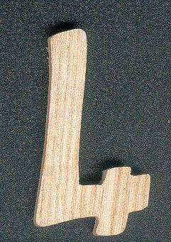 Chiffre 4 en bois 5 cm