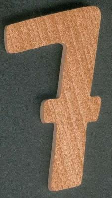 Chiffre 7 ht 10cm marquage bois