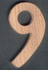 Chiffre 9 ht 10cm