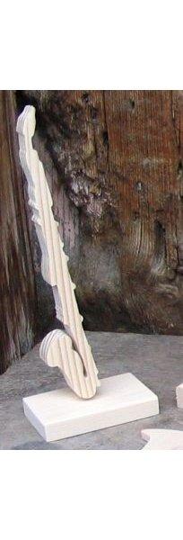 clarinette basse montée sur socle, decoupe en bois, décoration musicale table de fetes