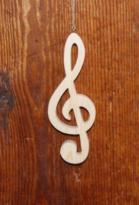 clef de sol en bois massif ht 20 cm décoration interieur musique,déco table, cadeau musicien