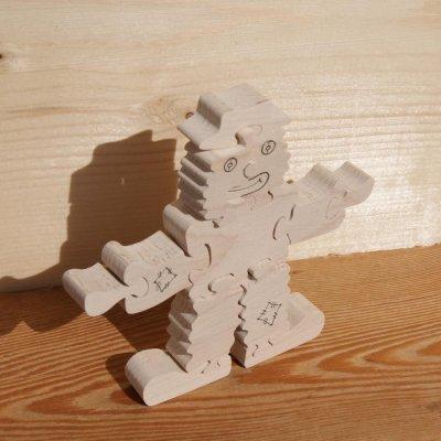 clown puzzle 12 pieces en bois de hetre massif fait main