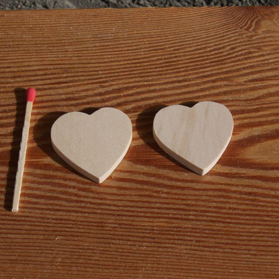 Figurine coeur 3x3 en bois massif a peindre, décoration mariage, saint valentin, noces de bois