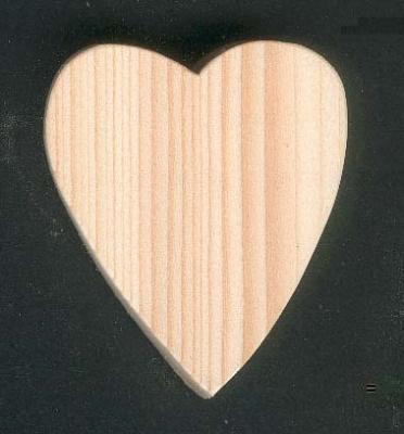 Coeur en bois 5 x 5.5 cm Saint Valentin