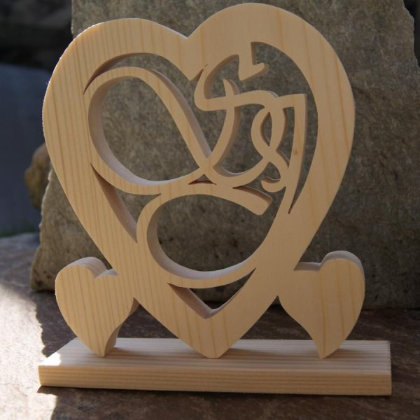 Cadeaux Coeur Noce De Bois 5 Ans De Mariage Initiales