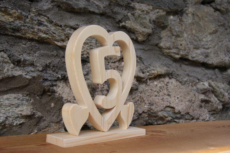 Coeur noce de bois 5 ans de mariage for Decoration 5 ans de mariage