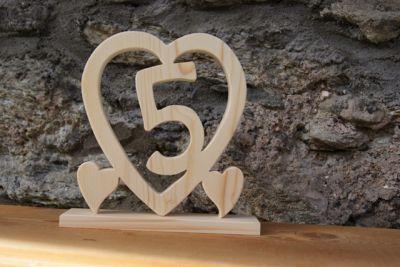 Coeur noce de bois 5 ans de mariage - Idee cadeau noce de bois ...