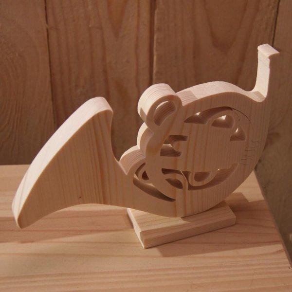 cor d'harmonie en bois monté sur socle decoration, centre de table mariage fait main cadeau original corniste