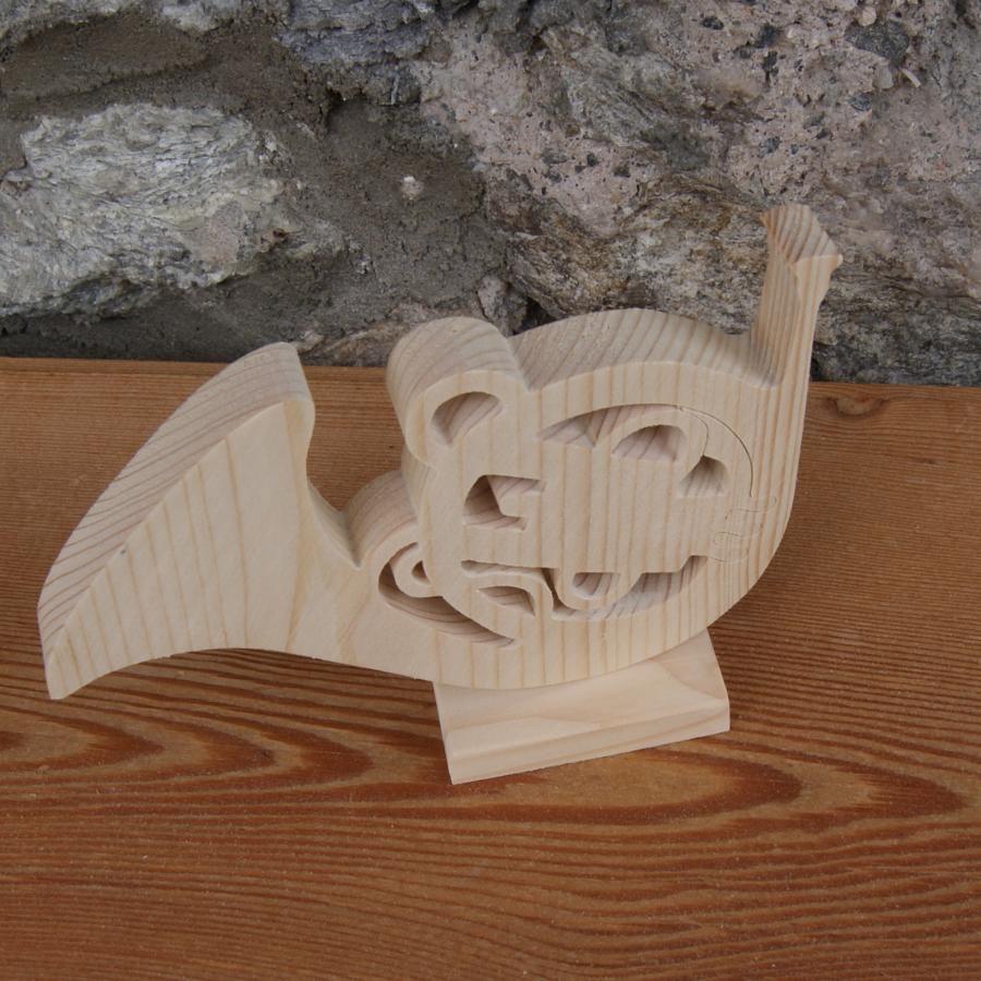 cor d'harmonie en bois massif d'epicea monté sur socle decoration mariage fait main cadeau corniste