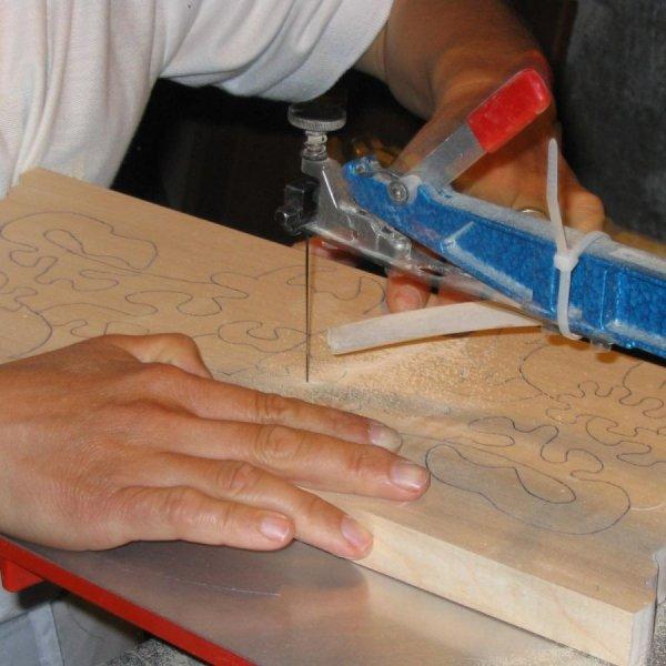 Crèche de Noel puzzle en bois à peindre,  10 pièces fait main en érable massif