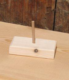 croche montée sur socle decoration musicale en bois