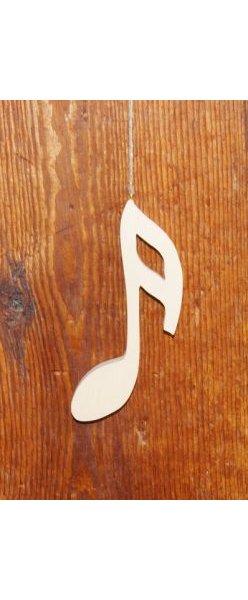 Double croche en bois 15cm, note de musique