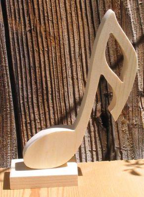 double croche montée sur socle decoration musicale