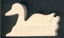Figurine canard en bois à peindre, loisirs créatifs, miniatu