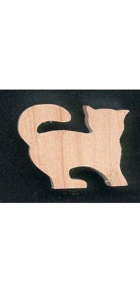 Figurine chat en bois