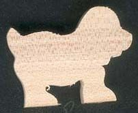 Figurine chien en bois d'erable massif fait main theme ferme, animaux domestiques