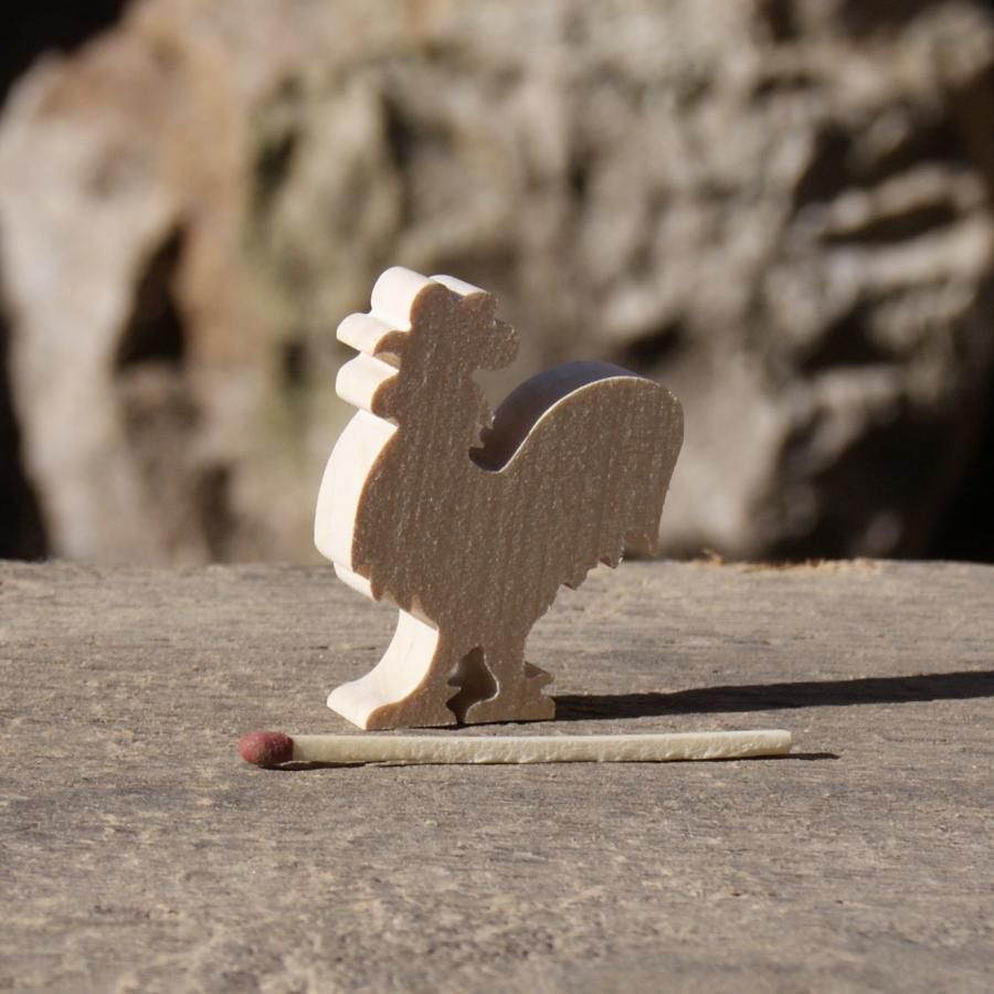 Figurine miniature coq en bois, loisirs créatifs