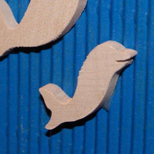 figurine dauphin 2.5 x 2.7 cm bois erable massif a peindre ep 3mm embellissement scrapbooking fait main
