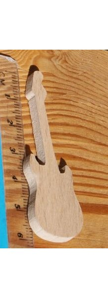 Figurine guitare electrique lg 6cm ep 3mm deco mariage