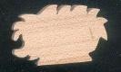 Figurine herisson en bois