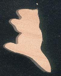 Figurine miniature marmotte 3  x 3.8 cm en bois d'erable massif fait main loisirs créatifs