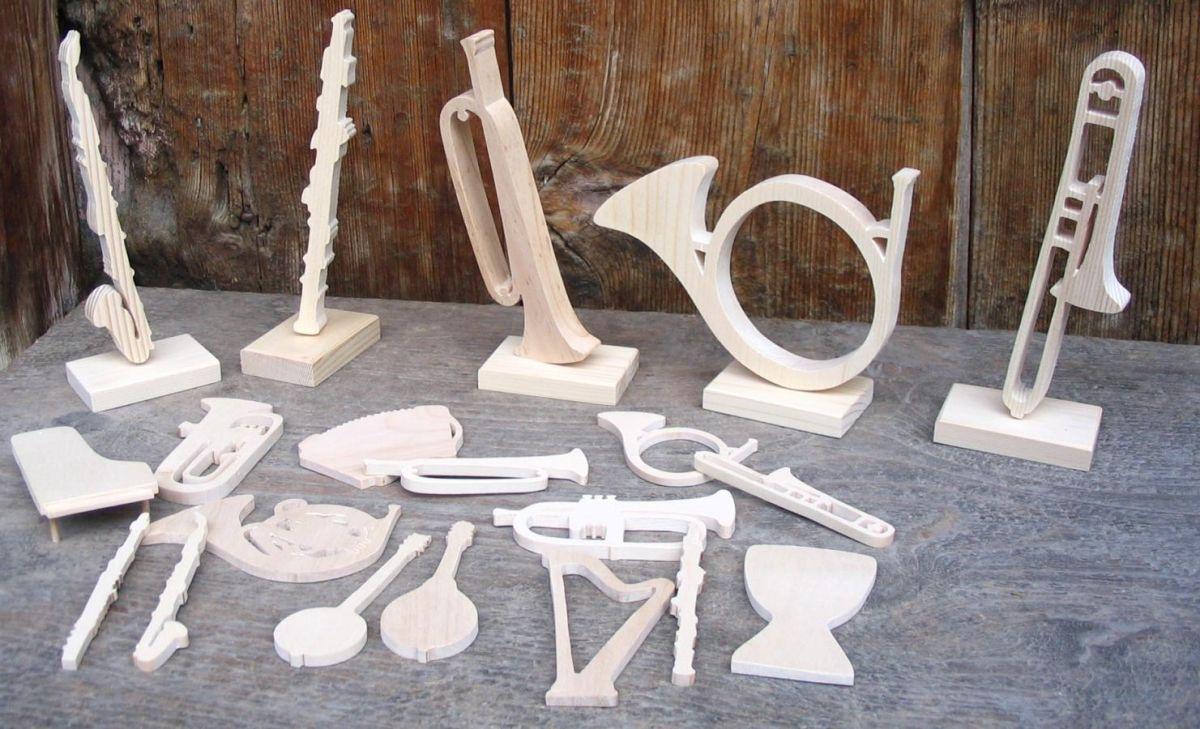 Figurine marque place guitare electrique  mariage theme musique bois massif fait main