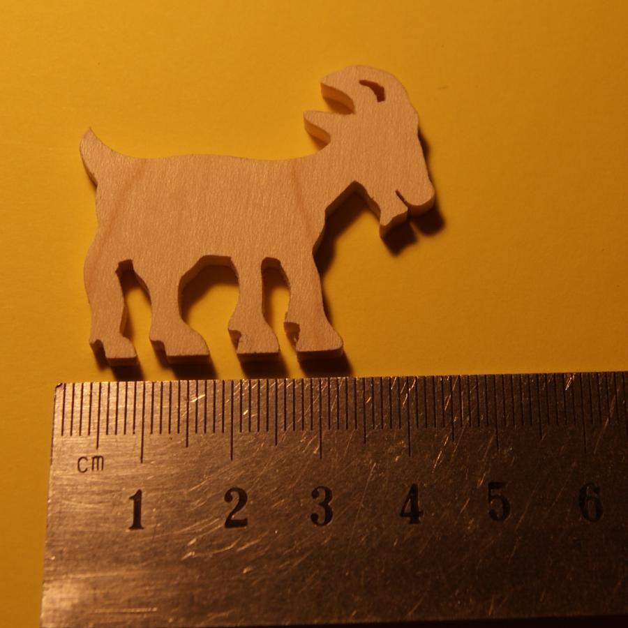 figurine miniature chèvre epaisseur 3mm embellissement a peindre et a coller bois massif fait main