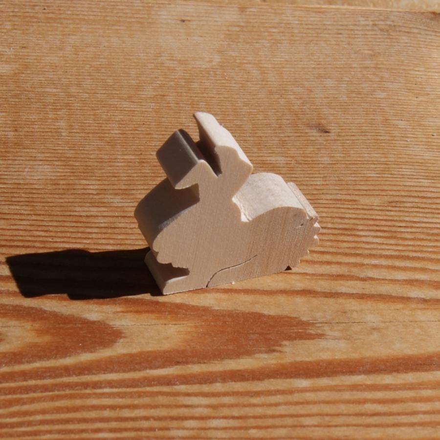 Figurine miniature lapin en bois à décorer loisirs créatifs, animaux