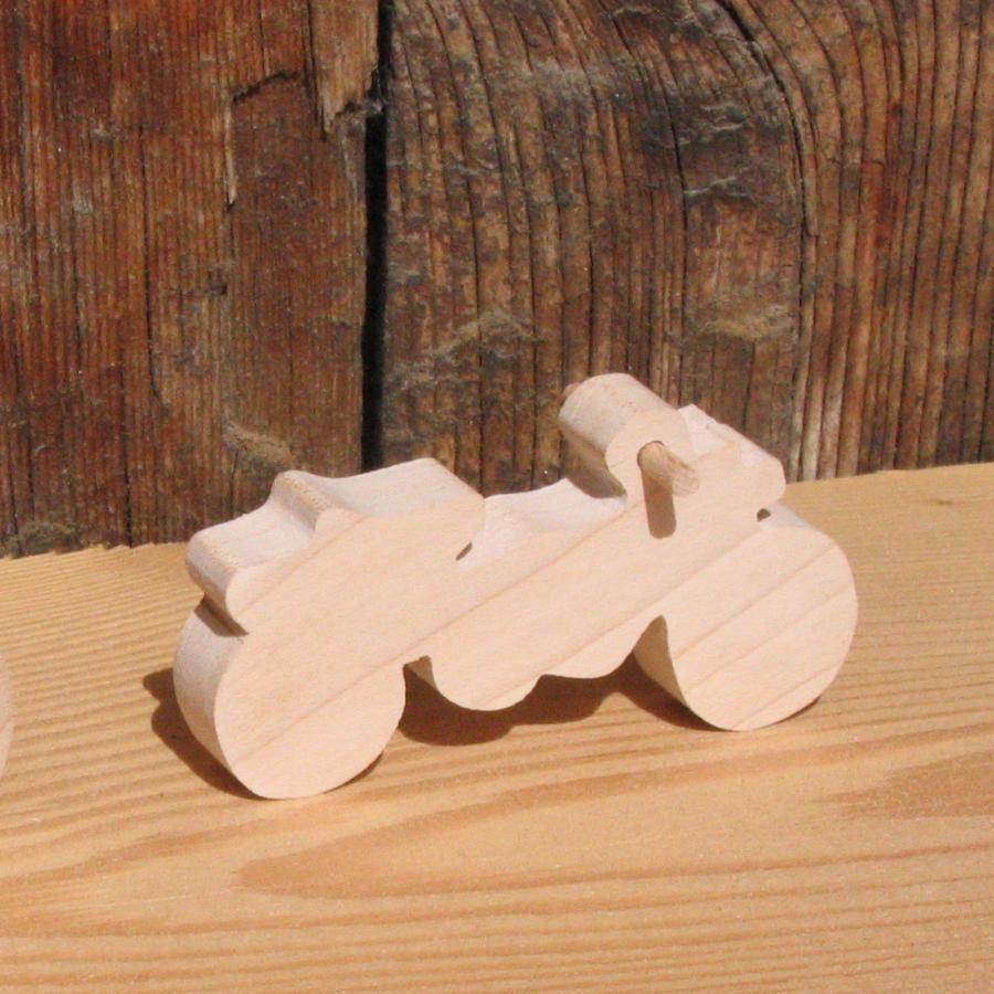 Figurine Moto  cross en bois