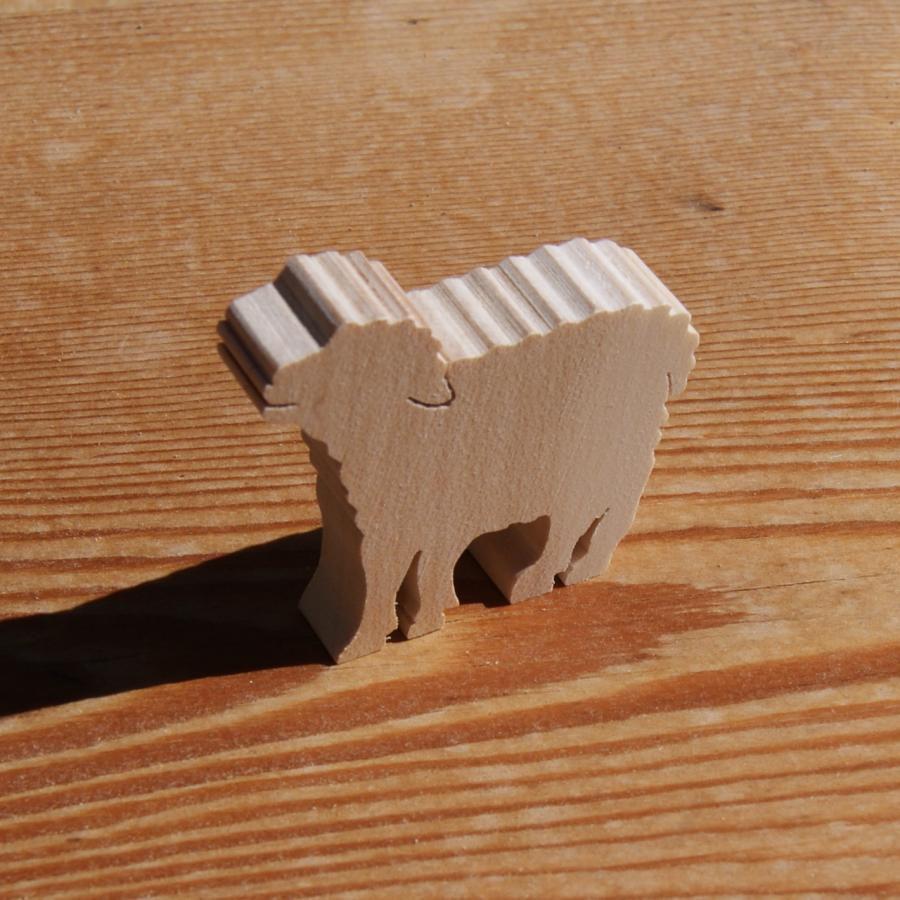 Figurine miniature mouton, agneau, brebis en bois a décorer