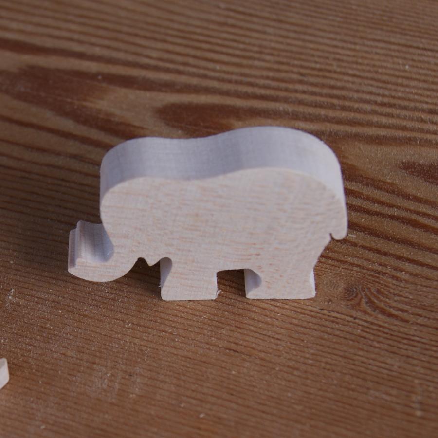 Figurine miniature éléphant en bois à décorer loisirs créati