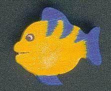 Figurine poisson en bois 2.5 x 3 cm, fait main, a peindre