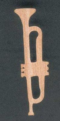 Figurine trompette en bois