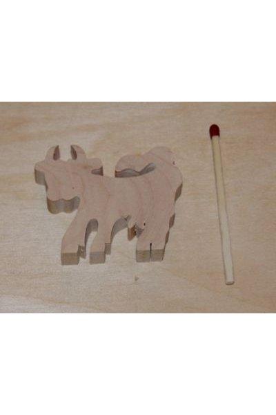 Figurine miniature vache en bois a decorer
