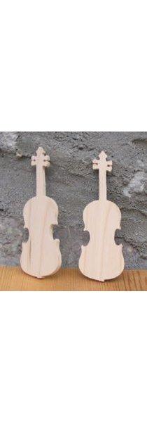 Figurine marque place violon lg 9cm ep  3mm  mariage theme musique, fait main