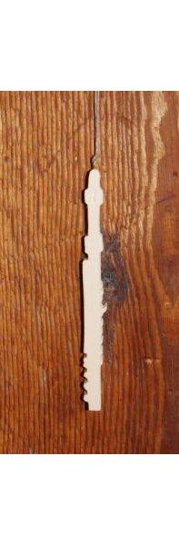 flute traversiere en bois d'epicea massif ht15cm decoration musique