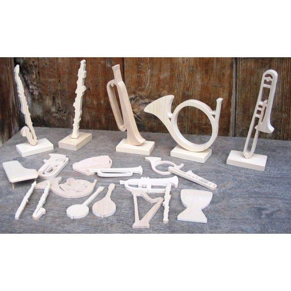 Flute traversière en bois massif ht 20 cm fait main decoration interieur musique cadeau flutiste