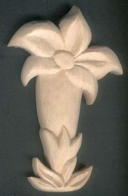 Gentiane découpée sculptée non cirée