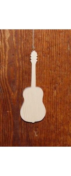 Guitare en bois 15cm décoration musique