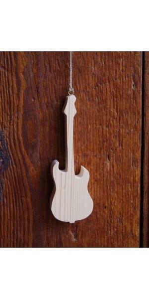 Guitare electrique en bois 15cm, déco musicale
