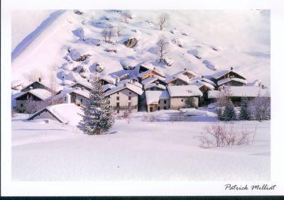Carte postale Hameau de Friburge  Champagny le Haut en hiver
